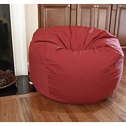 Ahh Products Dark Red Organic Cotton Washable Bean Bag Chair