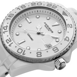 Akribos XXIV Men's Bold Ceramic Divers Stainless-Steel Watch