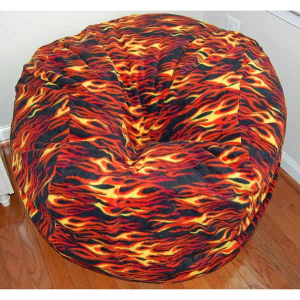Ahh Products Hot Rod Fleece Washable Bean Bag Chair 9070016