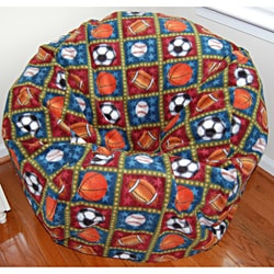 Ahh Products All Stars Fleece Washable Bean Bag Chair