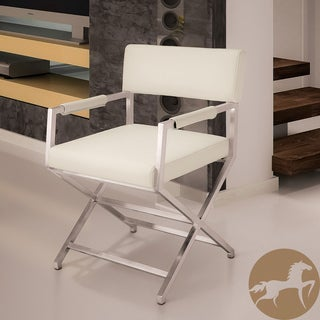 Christopher Knight Home Martine White Leather Director Style Dining Chair