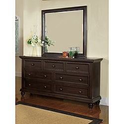 Furniture of America Remi Contemporary Dresser and Mirror Set