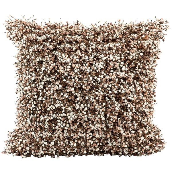 Mina Victory Shag Spectra Brown Throw Pillow (20-inch x 20-inch) by Nourison