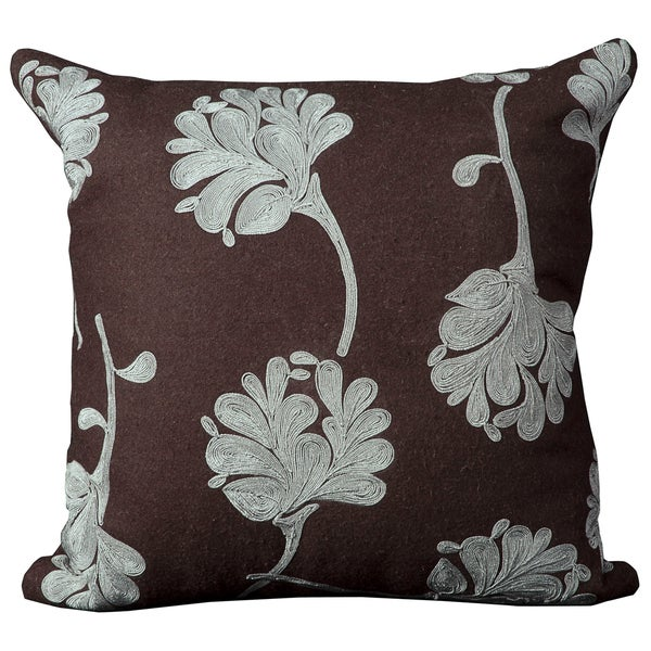 Mina Victory Luminescence Brown Throw Pillow (20-inch x 20-inch) by Nourison