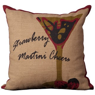 Lifestyle Strawberry Martini 20-inch Throw Pillow