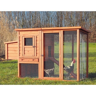 Trixie Pet Products Glazed-pine Chicken Coop with Outdoor Run