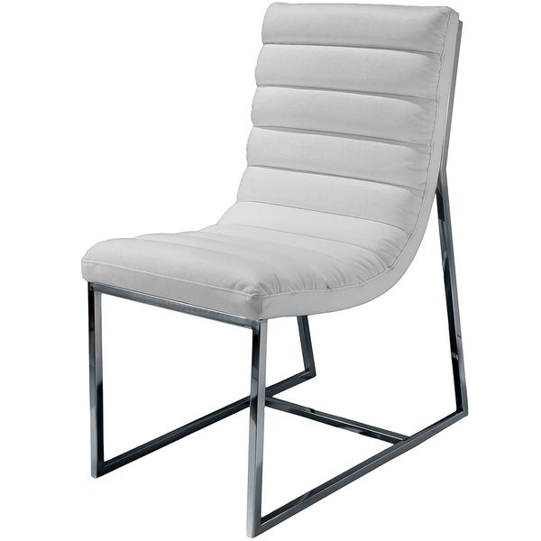 Christopher Knight Home Parisian White Leather Dining Chair