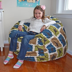 Blue Dinosaurs Cotton Washable Bean Bag Chair