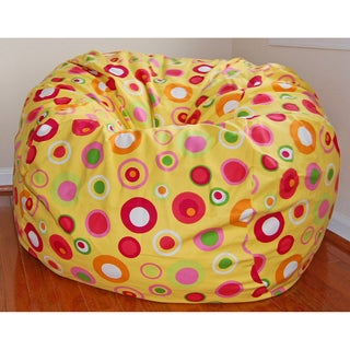 Ahh Products Bubbly Citrus Cotton Washable Bean Bag Chair