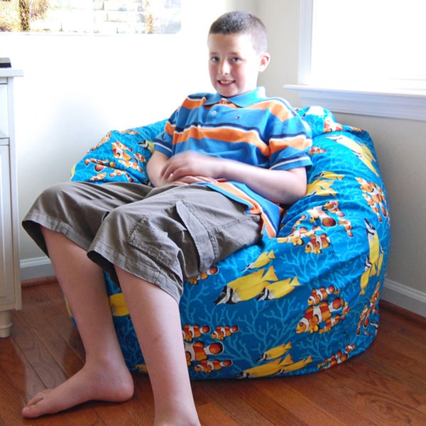 Ahh Products Ocean Reef Cotton Washable Bean Bag Chair