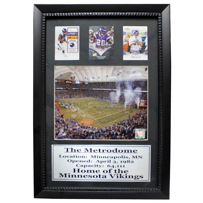 Minnesota Vikings The Metrodome 3-card Deluxe Frame