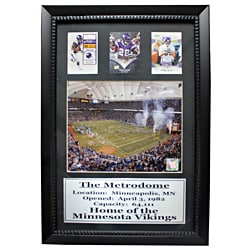 Minnesota Vikings The Metrodome 3-card Deluxe Frame