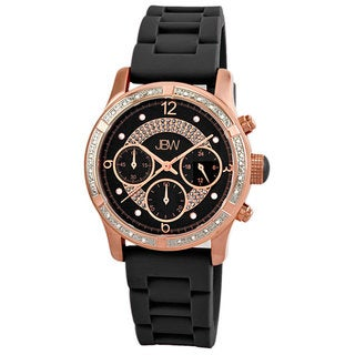 JBW Women's Venus Sport Diamond Watch with Silicone Strap