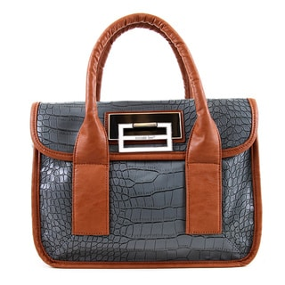 Nicole Lee Patricia Faux Croc 12-inch Women's Leather Briefcase