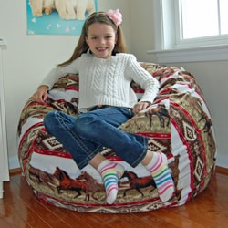 Ahh Products Southwest Horses Fleece Washable Bean Bag Chair