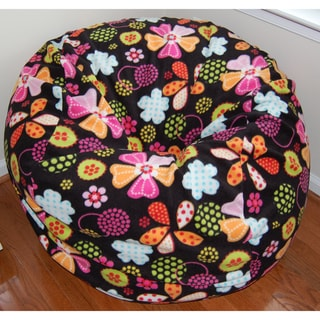 Ahh Products Flowers and Dots Fleece Washable Bean Bag Chair