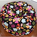 Flowers and Dots Fleece Washable Bean Bag Chair