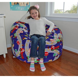 Ahh Products On The Road Fleece Washable Bean Bag Chair
