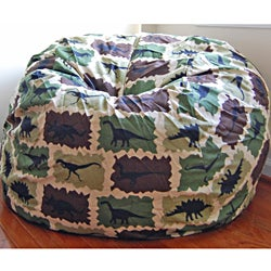 Ahh Products Camouflage Dinosaurs Cotton Washable Bean Bag Chair