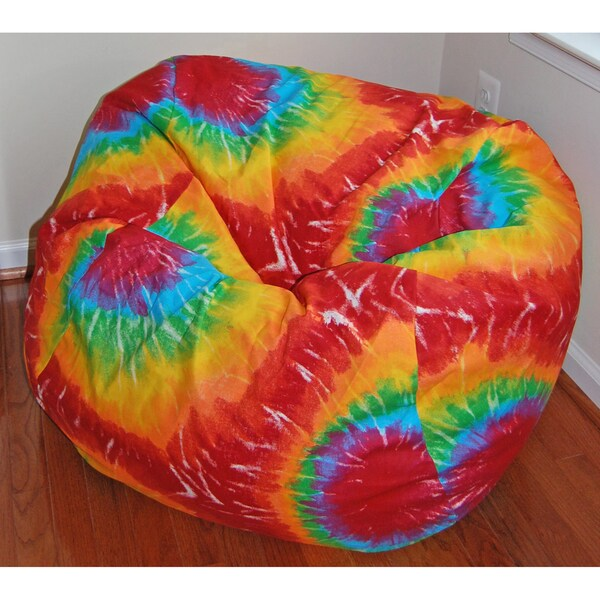 Ahh Products Rainbow Tie Dye Cotton Washable Bean Bag Chair