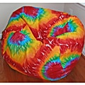 Ahh Products Rainbow Tie Dye Cotton Washable Bean Bag Chair