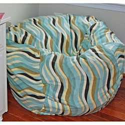 Ahh Products Wavelength Lake Cotton Washable Bean Bag Chair