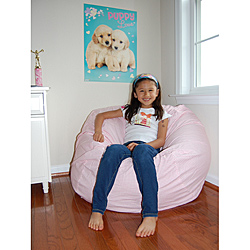 Pink and White Gingham Cotton Washable Bean Bag Chair