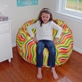 Ahh Products Wavelength Citrus Cotton Washable Bean Bag Chair