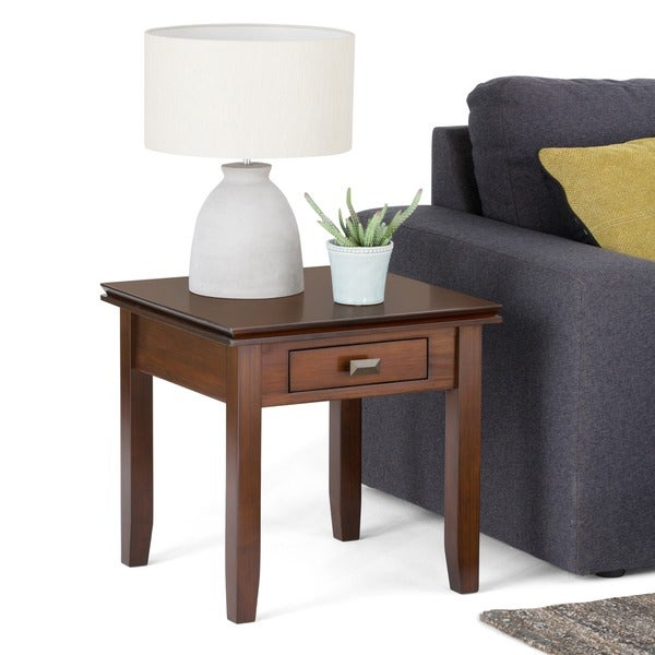 WYNDENHALL Stratford Auburn Brown End Table