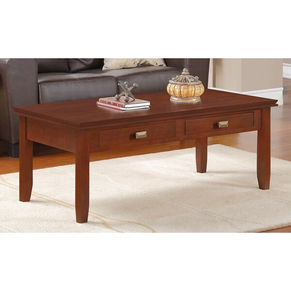 WYNDENHALL Stratford Auburn Brown Coffee Table