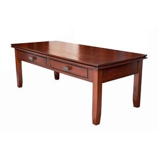 Stratford Auburn Brown Coffee Table