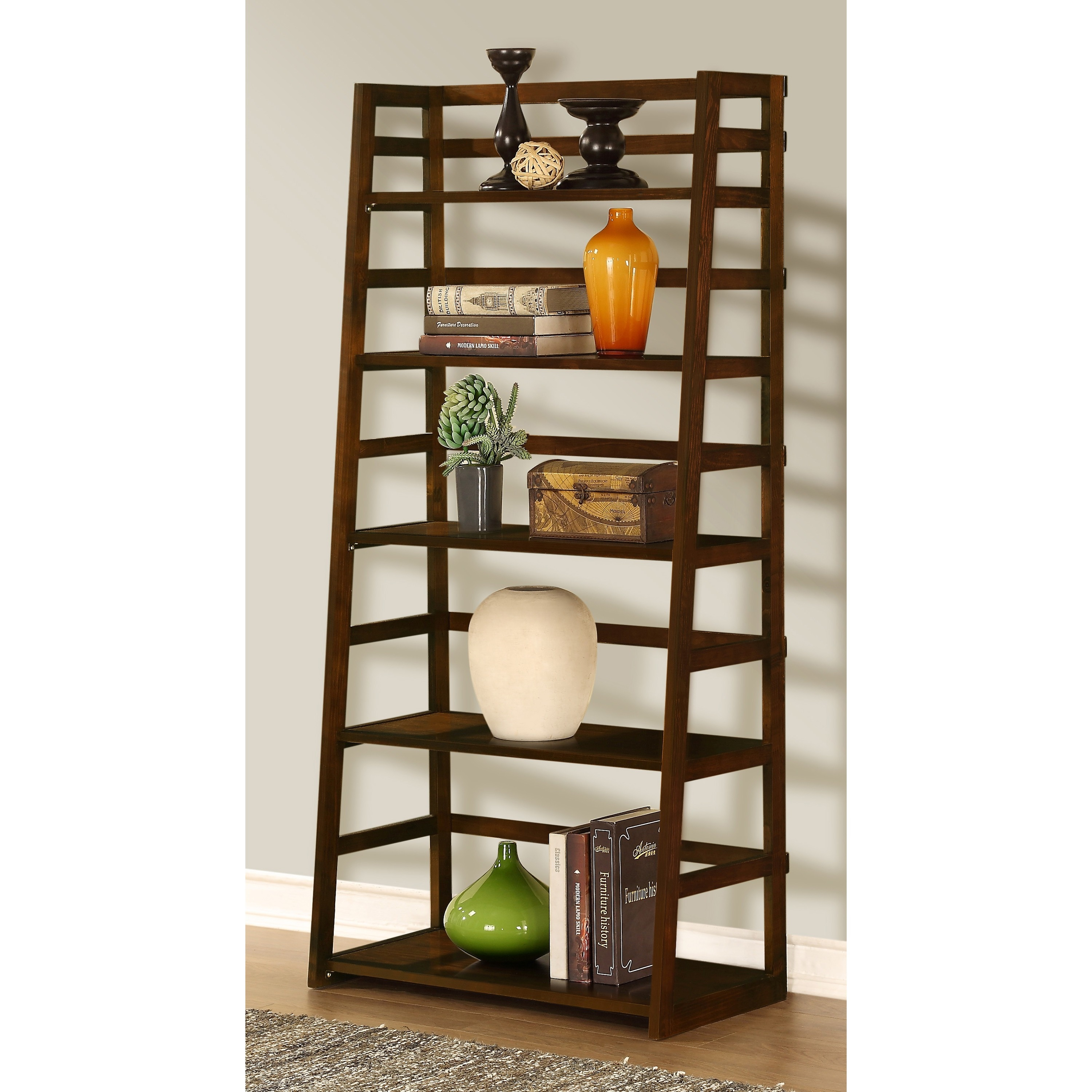 Normandy Ladder Shelf Bookcase - Overstock Shopping - Great Deals on ...
