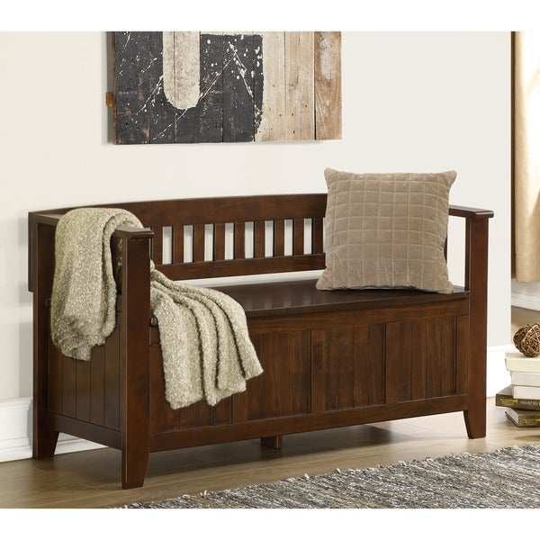 Overstock Foyer Furniture : Normandy entryway storage bench overstock shopping