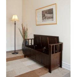 Normandy Tobacco Brown Entryway Storage Bench | Overstock.com