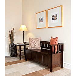 Normandy Tobacco Brown Entryway Storage Bench