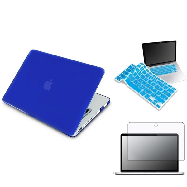 INSTEN Blue Laptop Case Cover/ LCD Protector/ Keyboard Skin for Apple MacBook Pro 13-inch