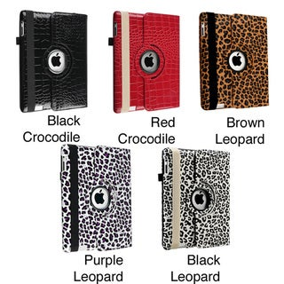 Leather Swivel Case for Apple iPad 2/ 3