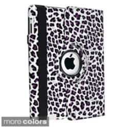 Crocodile Skin Leather Swivel Case for Apple iPad 2/ 3