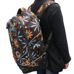 Pacific Gear by Traveler's Choice Horizon Flower Rolling 15-inch Laptop Backpack