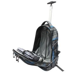 Pacific Gear Horizon Grey/ Blue Plaid Rolling 15-inch Laptop Backpack