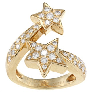 18k Yellow Gold 1 1/3ct TDW Diamond Comete by Chanel Ring (G-H, VS1-VS2)