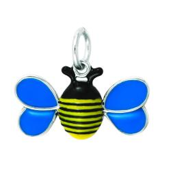 Sterling Silver Enamel Whimsical Bumblebee Charm