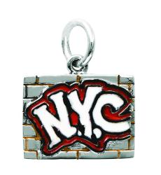 Sterling Silver NYC Graffiti Wall Charm