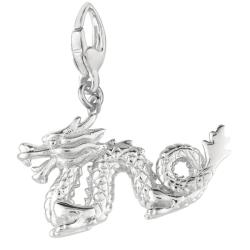 Sterling Silver Chinese Dragon Charm