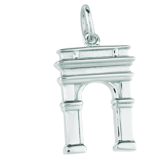 Sterling Silver Washington Square Park Monument Charm