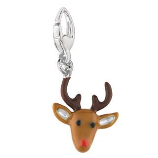 Sterling Silver Reindeer Head Charm
