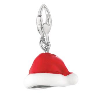 Sterling Silver Santa Hat Charm