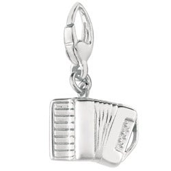 Sterling Silver Accordion Charm