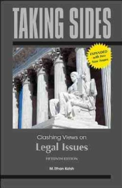Taking Sides Clashing Views on Legal Issues (Paperback)