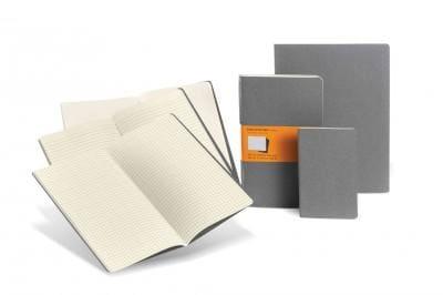 Moleskine Cahiers Plain Journals: Light Warm Grey, Extra Large (Notebook / blank book)